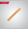 isolated ruler flat icon straightedge vector image