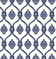 Rope seamless tied fishnet damask pattern vector image
