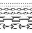 seamless chain isolated on white vector image