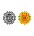 set mandala different color vector image