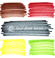 Set of colored doodle sketch banners vector image