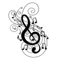 swirl whirl treble clef key doodle vector image