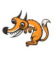totally crazy fox cartoon image eps 10 vector image