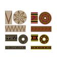 vintage borders pattern brushes set vector image