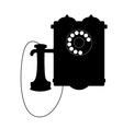 Vintage rotary telephone with a mouthpiece vector image