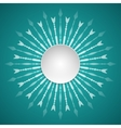 template of paper round fram vector image vector image