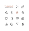 Business - Thin Single Line Icons Set vector image