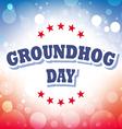 Groundhog Day card on celebration background vector image