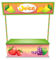A fruit vendor stall vector image