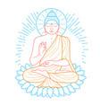 buddha purnima icon vector image