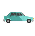 blue colored small car vector image