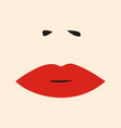 Womens lips and nose salon logo icon vector image