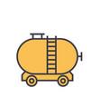 oil tank flat line  concept vector image