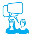 social network sa ljudima2 vector image vector image