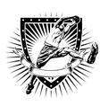 basketball shield vector image vector image