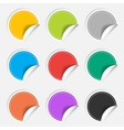 Colorful nine blank stickers set Badge collection vector image