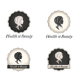Cameo logo with scallop frame and text vector image