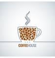 coffee cup line design background vector image