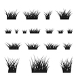 Grass bushes set vector image vector image
