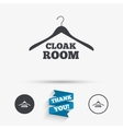 Cloakroom sign icon Hanger wardrobe symbol vector image