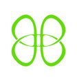 abstract butterfly line symbol graphic vector image