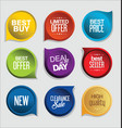abstract modern sticker collection vector image