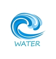 Blue ocean wave abstract icon vector image