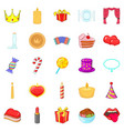 Buster icons set cartoon style vector image