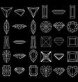 Diamond gemstone wire frames vector image