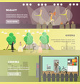 set of performing arts concept horizontal vector image