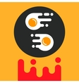 Sunny side up egg vector image