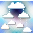 Templates for the text in the form of clouds vector image