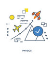 the concept of teaching physics and its laws vector image
