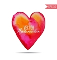 Watercolor painted red pink orange heart vector image