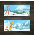 Winter sport tourism banners set vector image