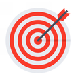 Arrows in target vector image vector image