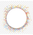 Festively colored shards paper back vector image