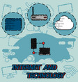 internet and technology flat concept icons vector image