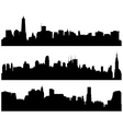 City Skylines Silhouette vector image vector image