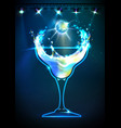 disco cocktail background vector image