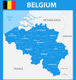 the detailed map of the belgium with regions or vector image