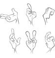 Hands cartoon vector image