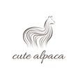 Abstract icon of alpaca vector image