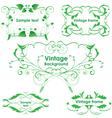Leaves frames - set design elements vector image