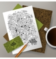 Cartoon hand-drawn camp doodle corporate vector image