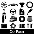 car parts store simple black icons set eps10 vector image
