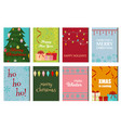 christmas posters set winter card xmas holiday new vector image