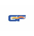 GF Logo Graphic Branding Letter Element vector image