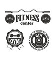 gym sport club fitness emblem vector image