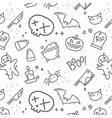 Halloween flat pattern skull vector image